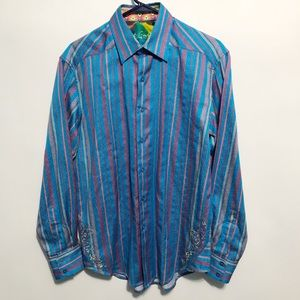 Robert Graham Colorful Striped Button Up Shirt